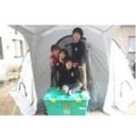 Family helped by Shelterbox